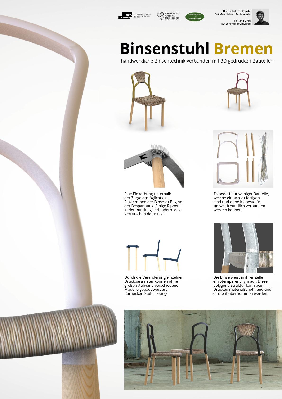 Binsenstuhl bremen m a material und technologie for Produktdesign bremen